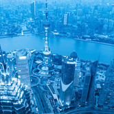 WPC News   Shanghai aerial at night, China