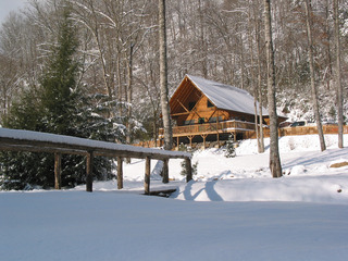 WPC News | Lands Creek Log Cabins is a mountain-top Shangri-La. (Courtesy Lands Creek Log Cabins)