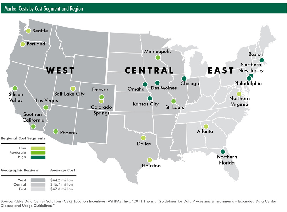 Seattle Tax Rate >> Most Attractive U.S. Markets for Data Centers Revealed ...