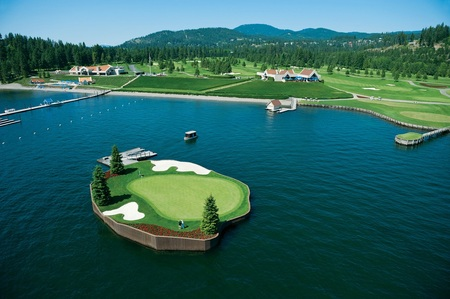 Coeur D Alene Resort has the worlds only floating golf green.jpg