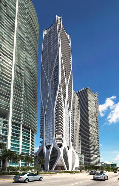 WPJ News | One Thousand Museum - Miami, Fl (Vertical View)