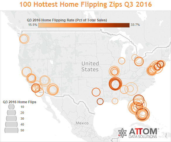 WPJ News | 100 Hottest Home Flipping Zips Q3 2016