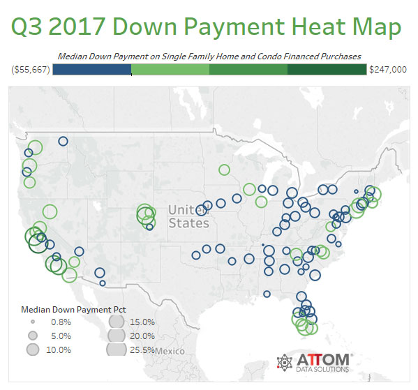 WPJ News | Q3 2017 Down Payment Heat Map