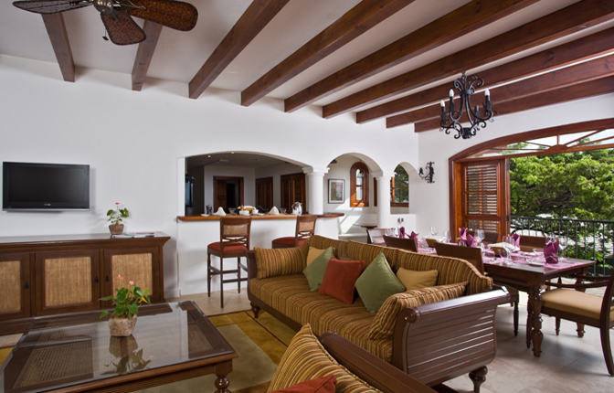 Open-Air Living & Dining Room Area