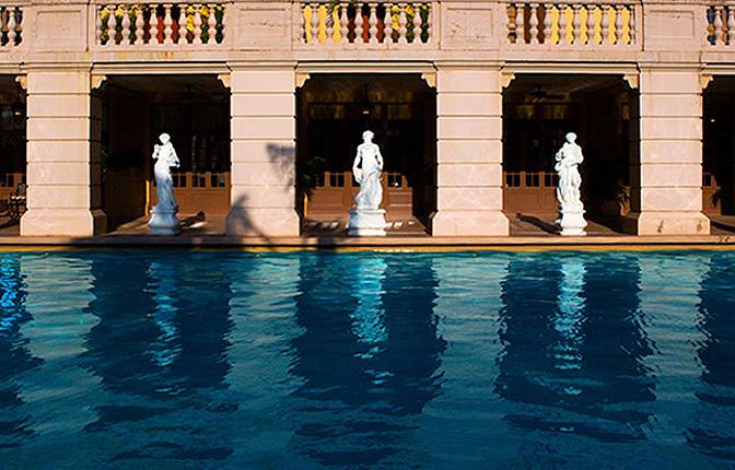 Poolside Statues