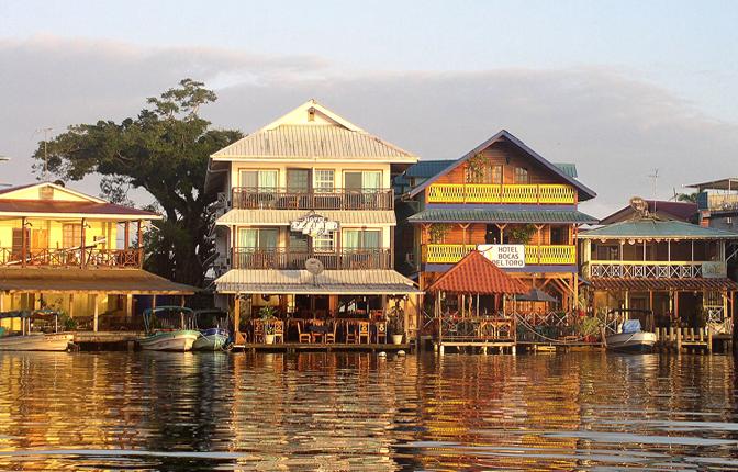 Morning Light on Bocas Town