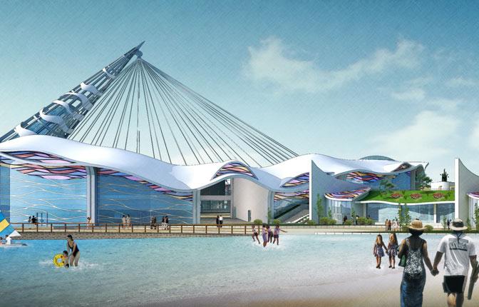 Rendering - Central Building & Kaleidoscope Viewatorium