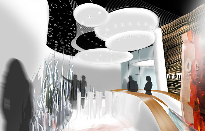Rendering - National Art Museum of China Gallery Entrance
