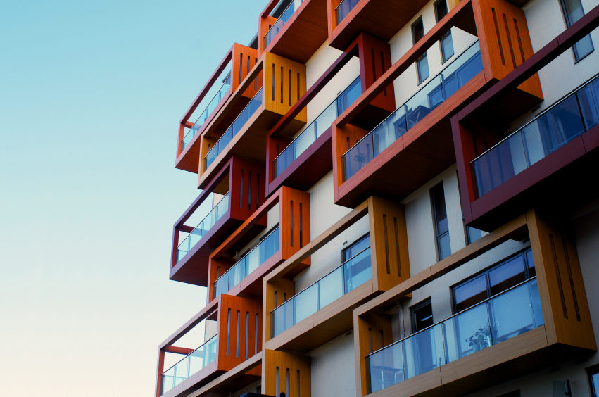 Balconies Of A Modern Luxury Apartments With