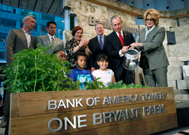 Al Gore, Michael Bloomberg Open Manhattan's Bank of America Tower