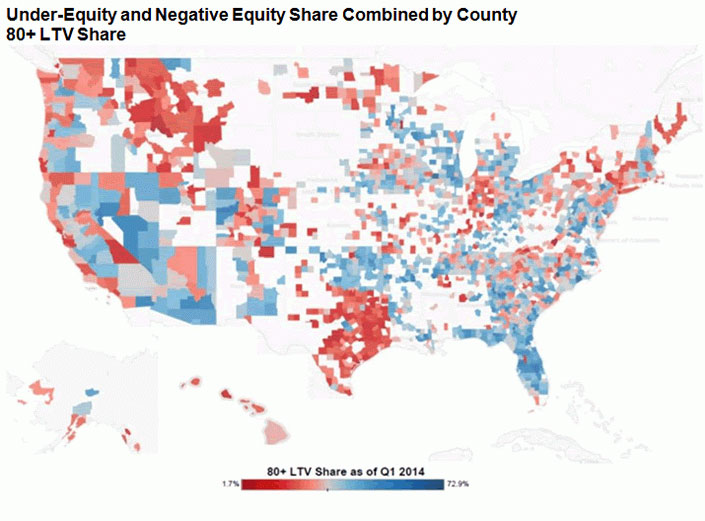 WPC News | Under Equity and Negative Euity Share Combined by County CoreLogic