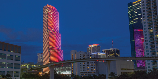 Miami Tower Adds Dramatic Energy Savings Twist to Icon Skyline Lighting System